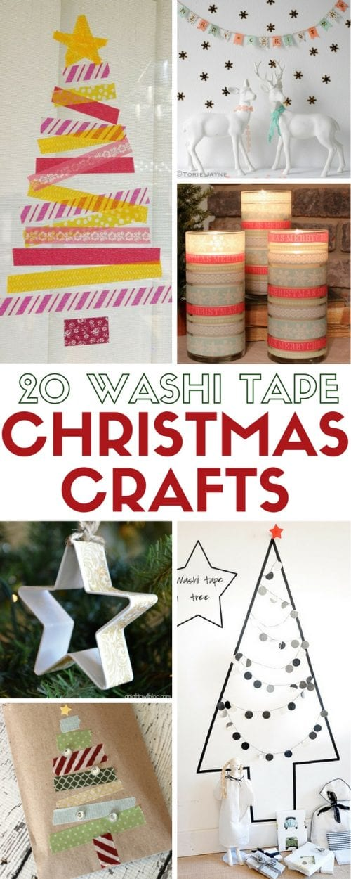 Washi Tape Christmas Crafts | Home Decor | Holidays | Easy DIY Craft Tutorial Ideas |
