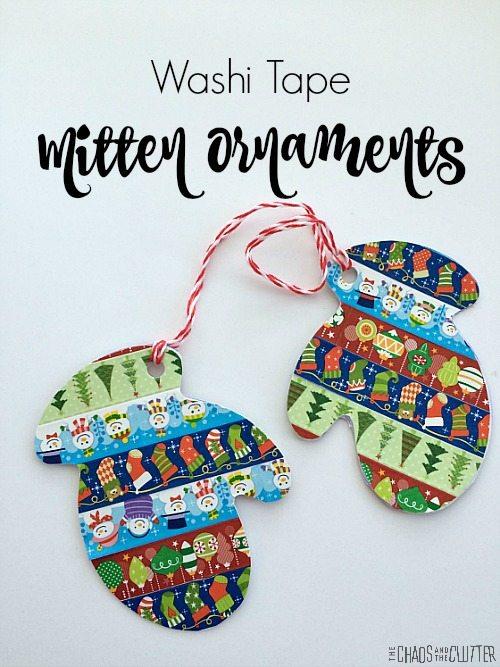 Washi Tape Mitten Weihnachtsschmuck