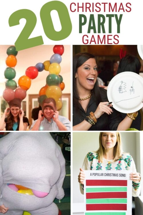 title image for 20 Fun Ideas for Christmas Party Games
