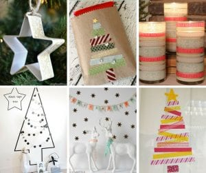20 DIY Washi Tape Christmas Crafts