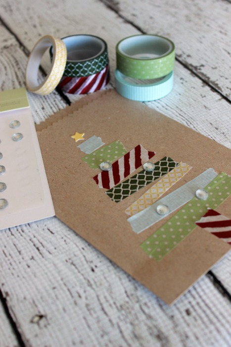 washi tape christmas trees put together