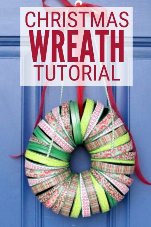 Titelbild für Wie man einen Washi Tape Weihnachtskranz macht