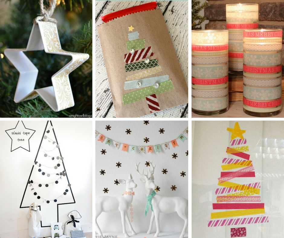 20 diy washi tape christmas crafts the crafty blog stalker for Crafts with washi tape