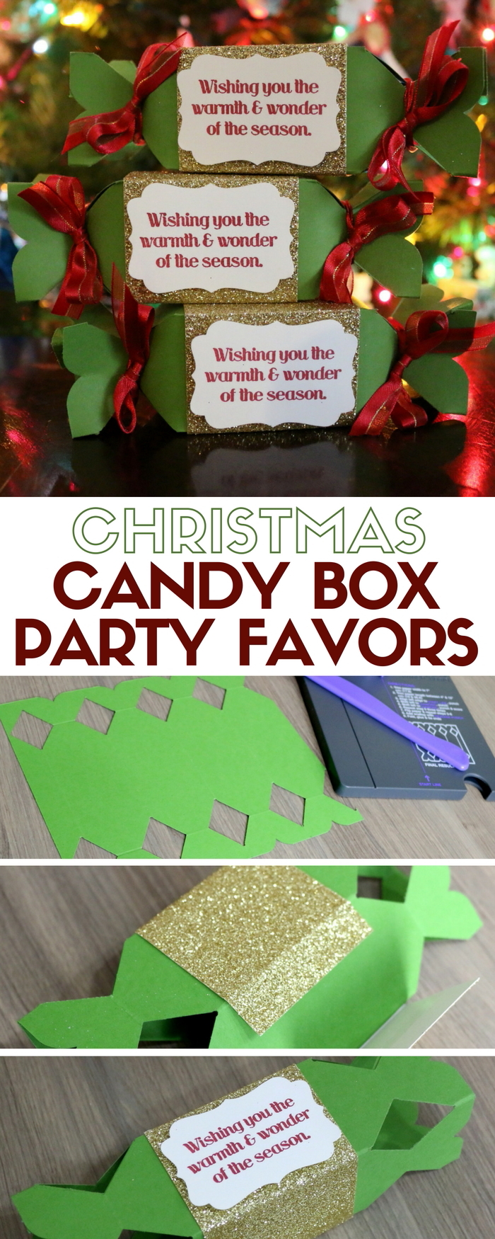 How to make christmas candy box party favors the crafty blog stalker christmas candy box party favor paper crafts candy box punch board handmade gifts jeuxipadfo Choice Image