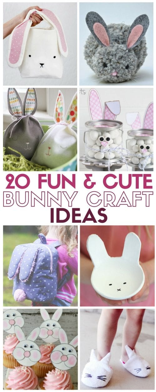 20 Fun And Cute Bunny Craft Ideas The Crafty Blog Stalker