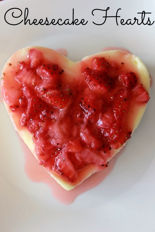 Individual Cheesecake Hearts Recipe