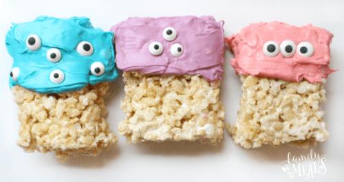 Easy Halloween Monster Rice Krispie Treats