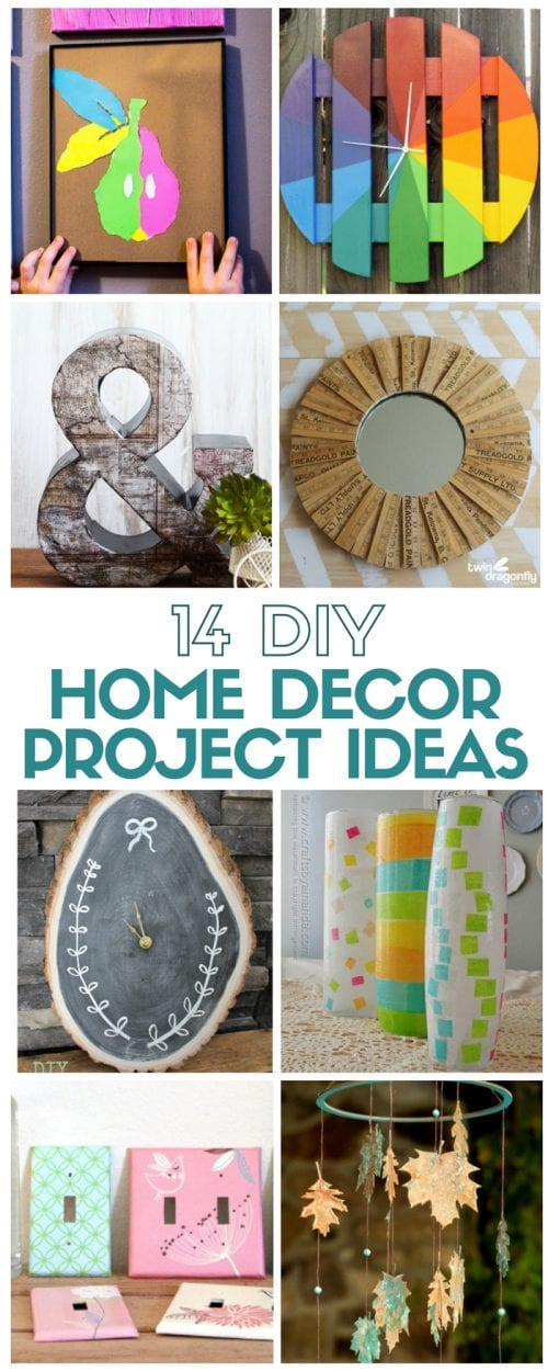 14 Amazing Home Decor project ideas all in one place! Easy DIY craft tutorials for some of the hottest Home Decorating trends.