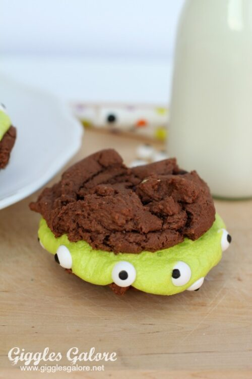 Monster Brownie Sandwich Cookies