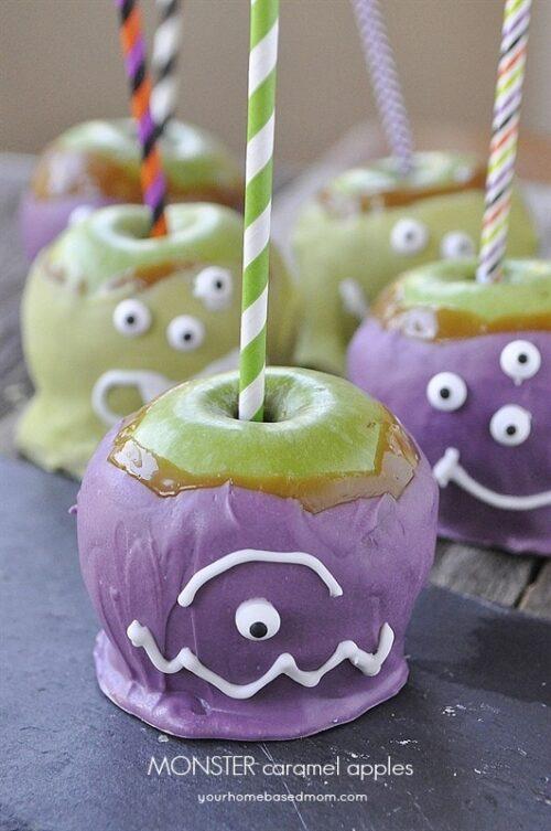 Monster Caramel Apples