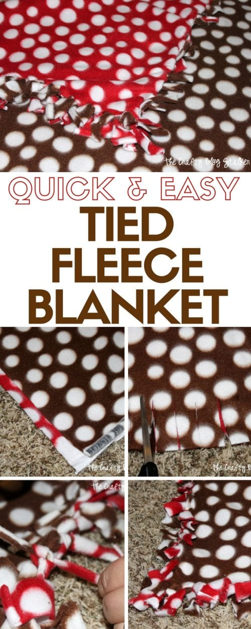 Quick and Easy Tied Fleece Blanket | Fleece Fabric | No Sew | Tie Blankets | Handmade | Easy DIY Craft Tutorial Idea
