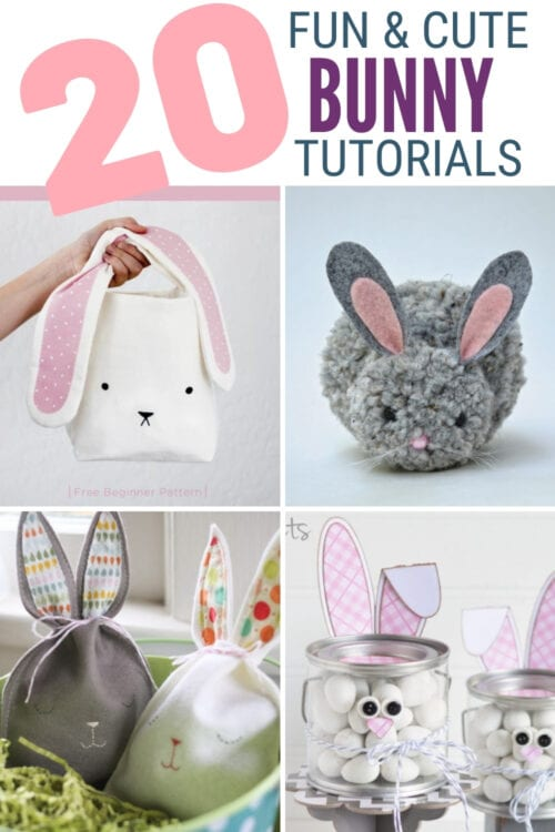 title image for 20 Fun and Cute Bunny Craft Ideas