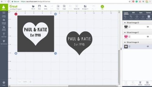 a screenshot of cricut design space while create a stencil