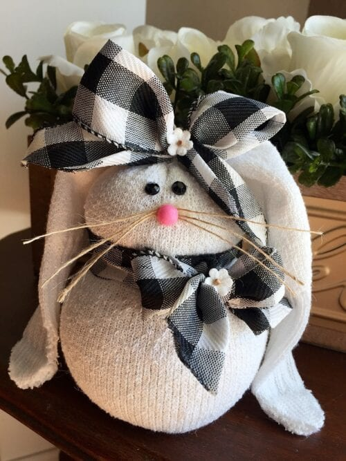 diy sock bunny craft