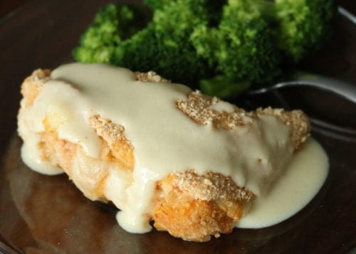 How to Make Easy Chicken Cordon Bleu with Creamy Dijon Sauce, a recipe tutorial featured by top US craft blog, The Crafty Blog Stalker.