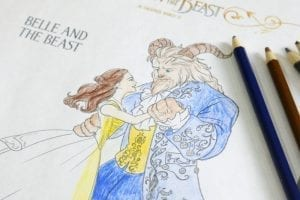 Beauty and The Beast Printable Coloring Sheets