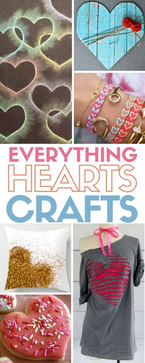 Heart Crafts are perfect for Valentine's Day, home decor, pillows and more. Easy DIY craft tutorial ideas for everything hearts crafts.