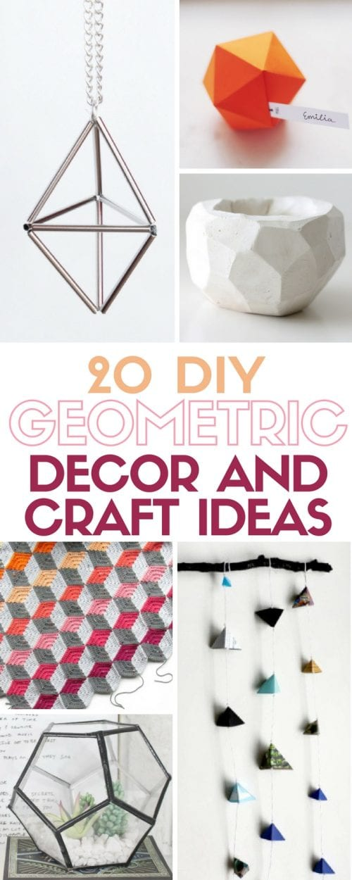 Interior Decor And More 20 diy geometric decor and craft ideas the crafty blog stalker trend is showing up everywhere with shapes patterns in home artwork