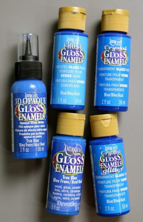 What Glass Paint to Use on Glass, a tutorial with video featured by top US craft blog, The Crafty Blog Stalker.