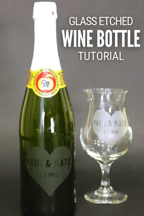 title image for How to Make a Personalized Etched Glass Wine Bottle