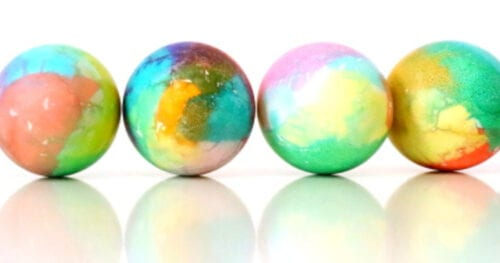 tissue paper dyed easter eggs 11