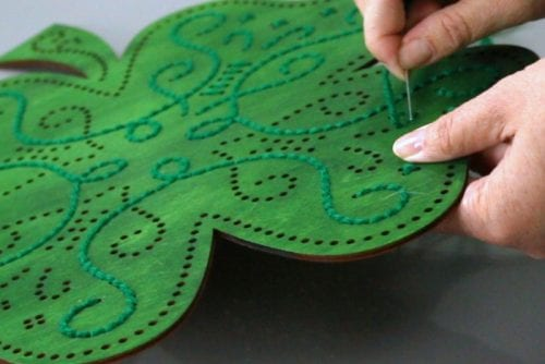How to Make Stitch of Luck St. Patrick's Day Decor - The Crafty Blog ...