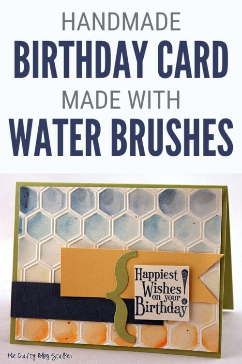 title image for How to Make a Handmade Birthday Card with Water Brushes
