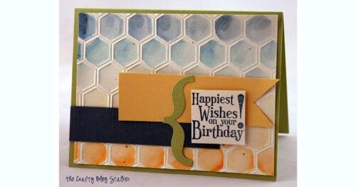 handmade birthday card water brushes 2