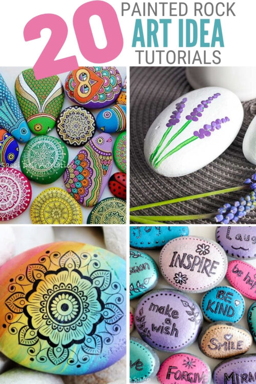 title image for 20 of the Best Painted Rock Art Ideas, You Can Do!