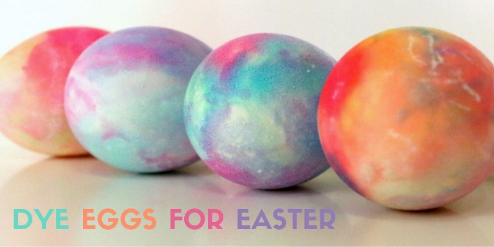 How to Dye Eggs for Easter with Shaving Cream and Food Coloring