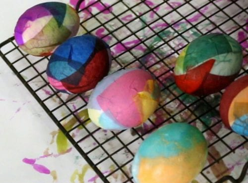 Dyed Easter Eggs | Cool Ways to Dye Easter Eggs | Bleeding Tissue Paper | Easter Ideas | Easy DIY