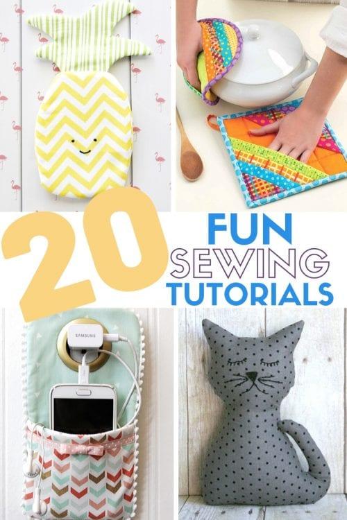 20 Fun & Fabulous Items to Sew