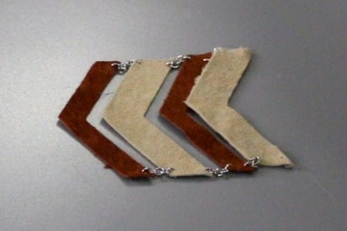 image of the leather chevron pendant