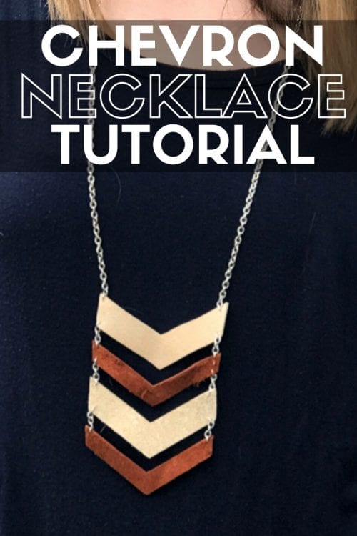 title image for How to Make a Leather Chevron Necklace