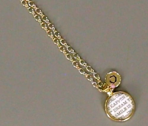 Monogram Pendant Necklace | Beautiful DIY Jewelry | Gold | Handmade Gift | Round | Video Tutorial