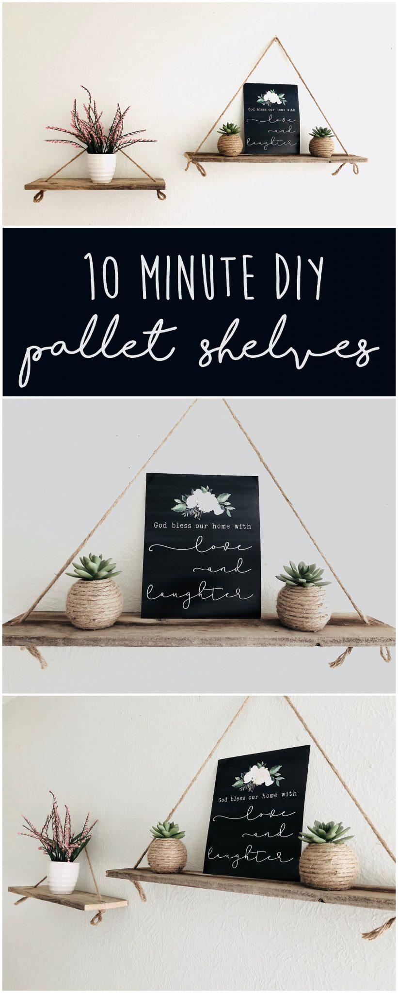 image of 10 Minute DIY Pallet Shelves