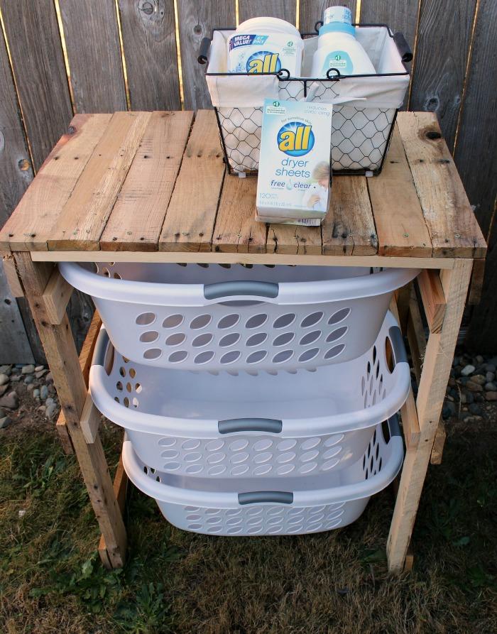 image of Pallet Laundry Shelf