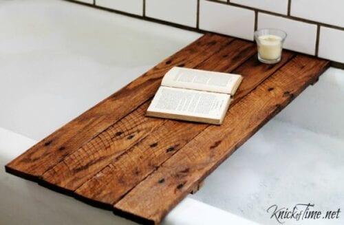 DIY bathtub table