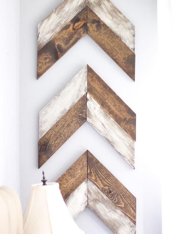 chevron wooden arrows