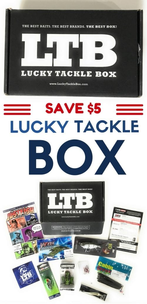 Lucky tackle box a gift idea for dad the crafty blog for Fly fishing subscription box