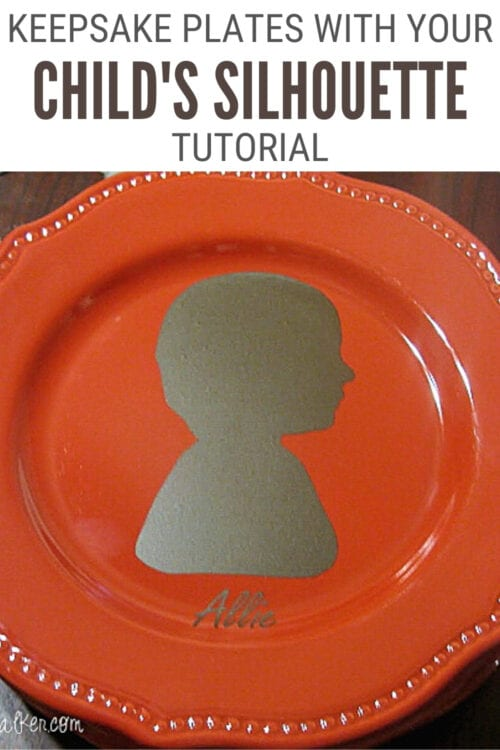 title image for How to Make Keepsake Plates with a Child's Silhouette