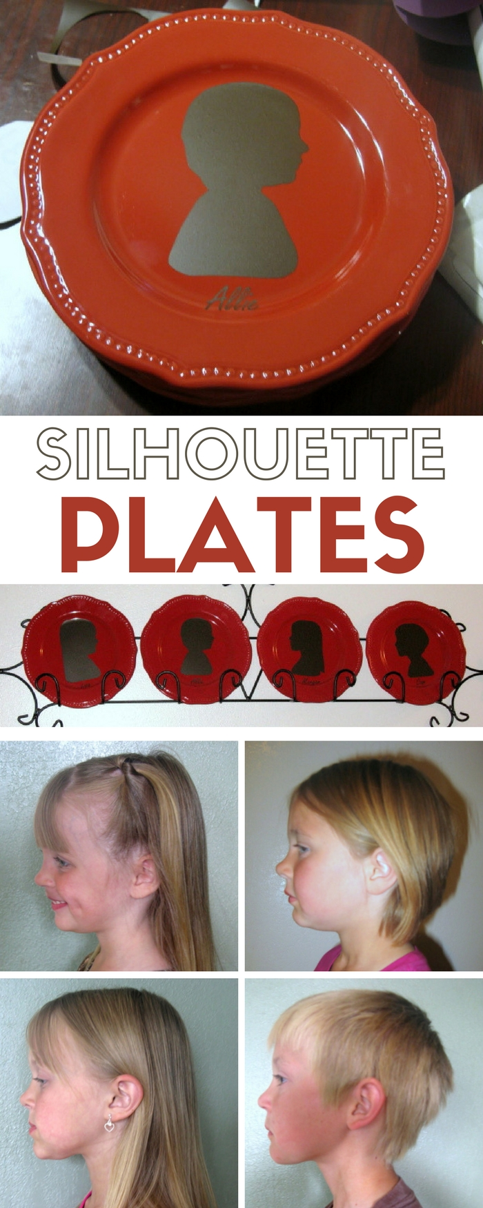Silhouette Plates | Home Decor | Family Craft Ideas | Vinyl