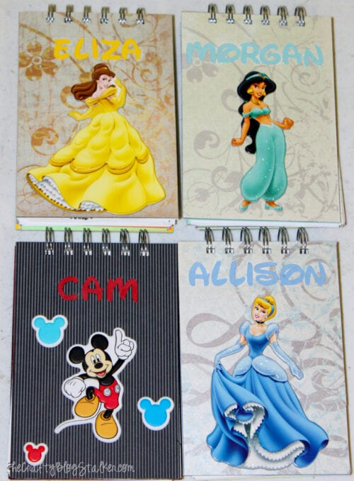 personalized front covers with favorite Disney characters