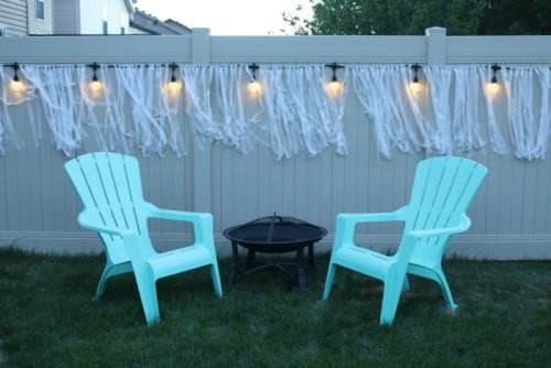 Create and Easy Outdoor Entertaining Space | Home Decor | Cafe Lights | #ColorCafeLights