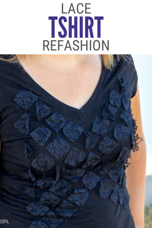Title image for How to Sew a Lace TShirt Refashion