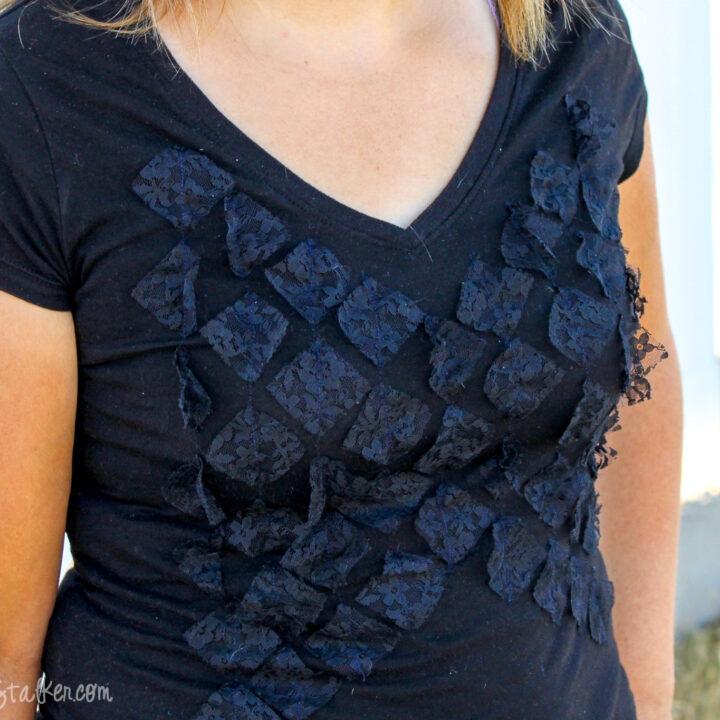 lace tshirt refashion