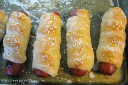 baked pretzel dogs