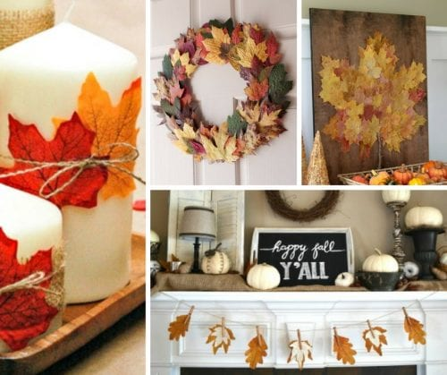 20 Craft Ideas with Fall Leaves