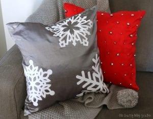 Snowflake Pillow Cover | Home Decor | Holidays | Winter | Snowflakes | DIY | Craft Tutorial Idea | Cricut Maker | Cricut BrightPad | Cricut Easy Press