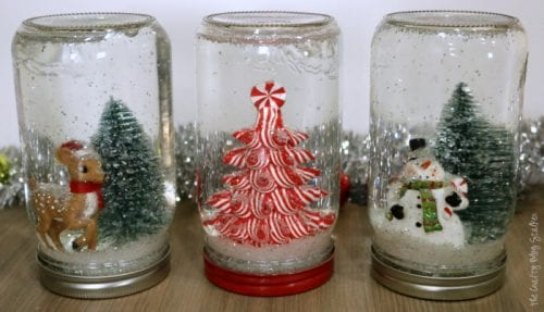 Mason Jar Snow Globe | Christmas Scene | Holidays | Handmade Gift | Secret Santa | Ball® Brand Jars | Easy DIY Craft Tutorial Idea | Gift Giving | #ad